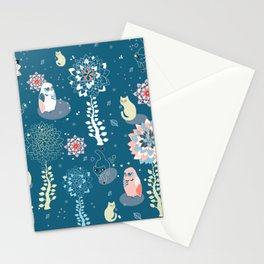 baby animals' reunion Stationery Cards