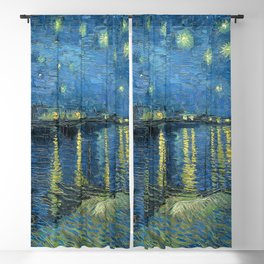 Starry Night Over the Rhône by Vincent van Gogh Blackout Curtain