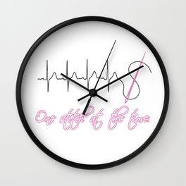 One Stitch at the Time Wall Clock