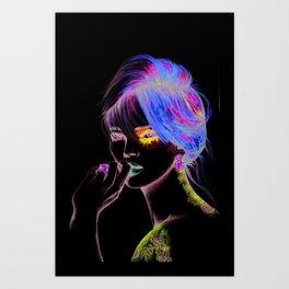 Miss K Art Print