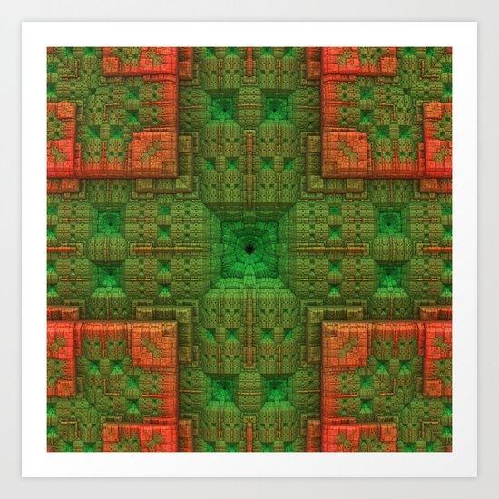 Green/Orange Art Print