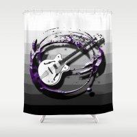 bass Shower Curtains featuring Music - Bass by yahtz designs
