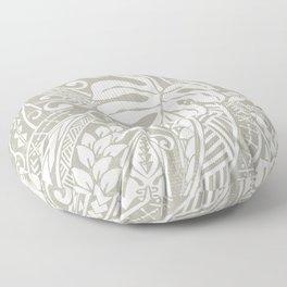 Vintage Organic Samoan Tribal Design Floor Pillow