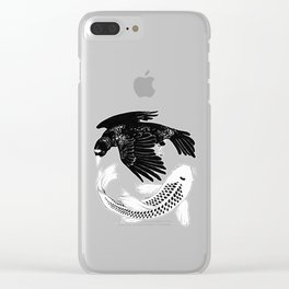 A Bird May Love a Fish Clear iPhone Case