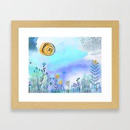 Blue Garden II Framed Art Print