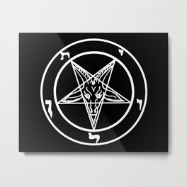 Das Siegel des Baphomet - The Sigil of Baphomet (white) Metal Print