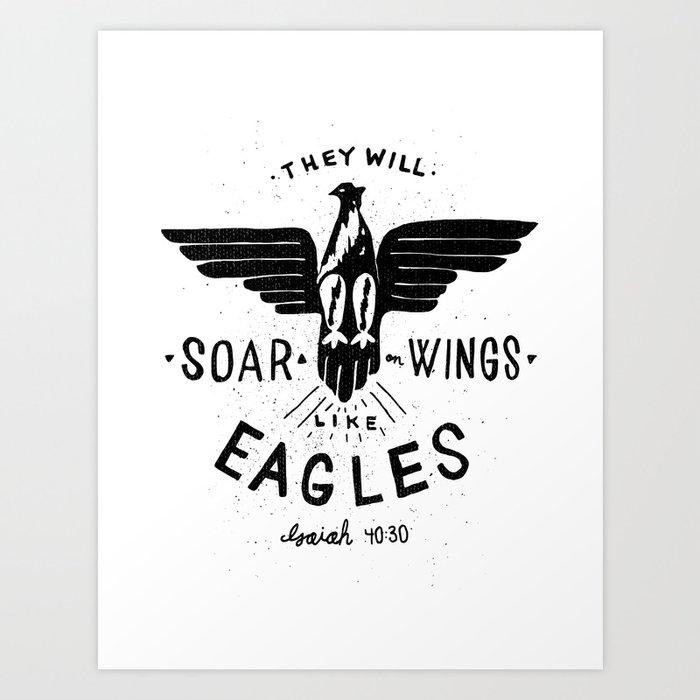 17/52: Isaiah 40:30 Art Print