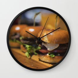 Yum Yum Sliders Wall Clock