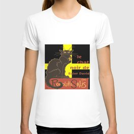 Le Chat Noir De Saint David De Rodolphe Salis T-shirt