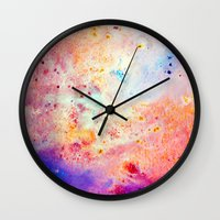 cosmos Wall Clocks featuring Cosmos by Kimsey Price