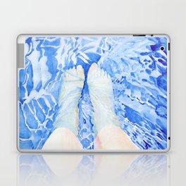 Feet in the pool Laptop & iPad Skin