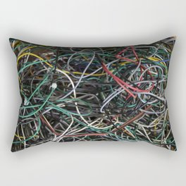 Wires.  Rectangular Pillow