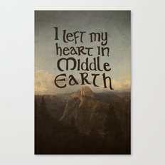 I Left My Heart in Middle Earth Canvas Print