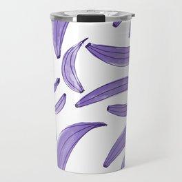 Watercolor bananas - purple Travel Mug