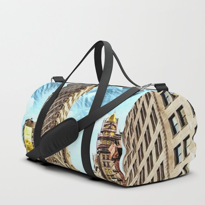 Flatiron Building NYC Landscape Painting by Jeanpaul Ferro Duffle Bag