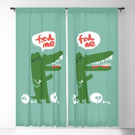 Hungry Hungry Alligator Blackout Curtain