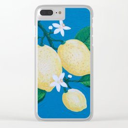 Lemon Blossom Clear iPhone Case