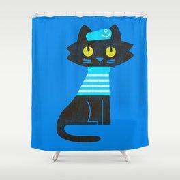 Fitz - Sailor cat Shower Curtain