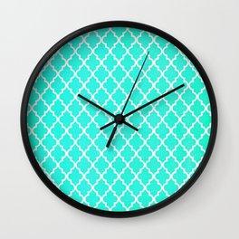 Morrocan Aqua Wall Clock