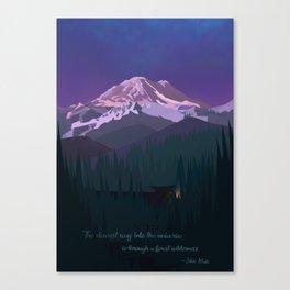 Mt. Rainier Wilderness Canvas Print