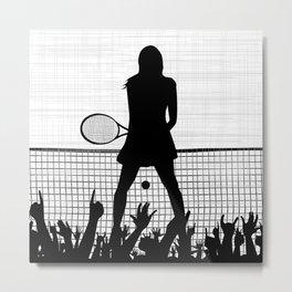 Tennis Ace Metal Print