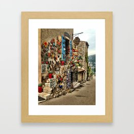 Shops in Gourdon Framed Art Print