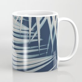 Palm Leaves Navy Blue Summer Night Vibes #1 #tropical #decor #art #society6 Coffee Mug
