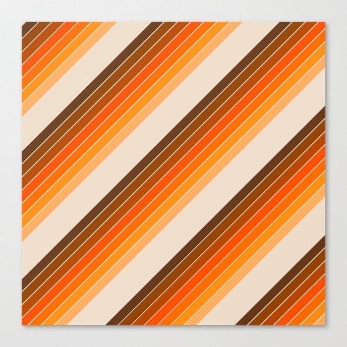 Tan Candy Stripe Leinwanddruck