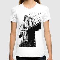 brooklyn bridge T-shirts featuring Brooklyn Bridge by Massimiliano Bertozzi