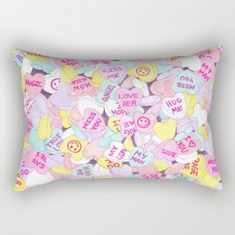 Candy Hearts (Sweet Hearts-inspired) Rectangular Pillow