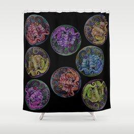 Octopus Dots Shower Curtain