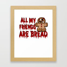 Gingerbread Zombies Halloween Gingerbread Man Pun Light Framed Art Print