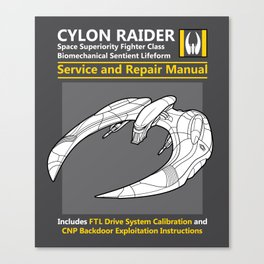 Cylon Raider Service and Repair Manual Canvas Print