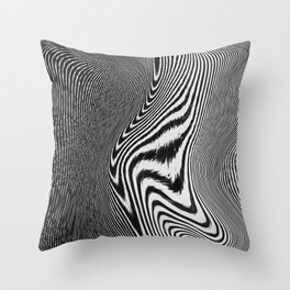 Zebra Topography Throw Pillow