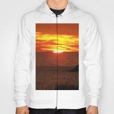 Flaming Skies Across the Sea Hoody