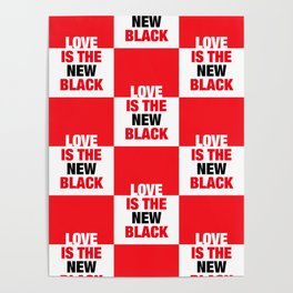 LOVE is the new black IV – Pattern Poster