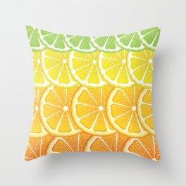 Grapefruit, lemon, orange and lime slices Throw Pillow