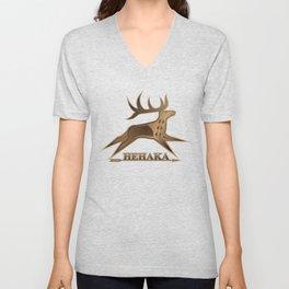 Elk Spirit (Brown) Unisex V-Neck