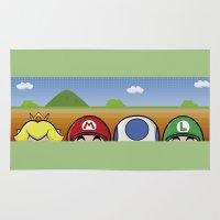 mario bros Area & Throw Rugs featuring Mario Bros by Bazingfy