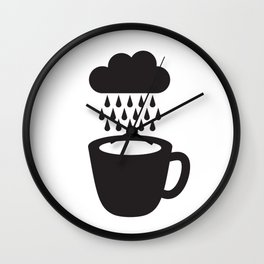 Rainy Day Coffee Wall Clock