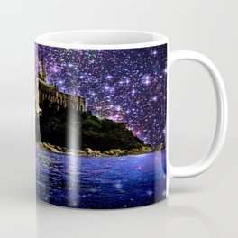 Enchanted castle Island Pink Purple Coffee Mug