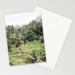 Tegalalang Rice fields near Ubud Bali, Indonesia | Travel film photography wall art Stationery Cards