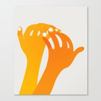 hands Canvas Prints featuring hands by alex eben meyer