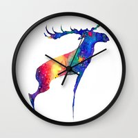 moose Wall Clocks featuring Moose by Verismaya