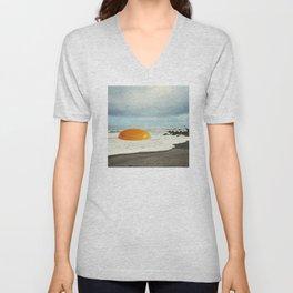 Beach Egg - Sunny side up Unisex V-Neck