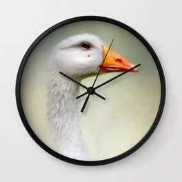 Goose with a beauty spot Wall Clock