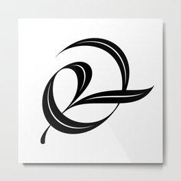 Swash ampersand Metal Print