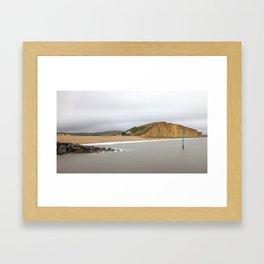Westbay Cliffs. Framed Art Print