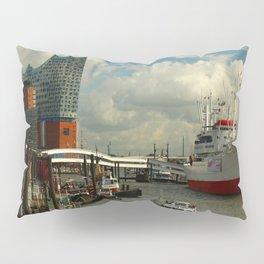 Elbharmonie With Harbor Scene Pillow Sham