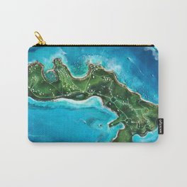 Water Island Map Carry-All Pouch